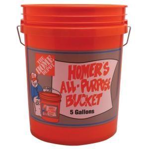 Homer Bucket 5 Gal Orange Bucket 05glhd2 At The Home Depot Bucket Survival Prepping Survival