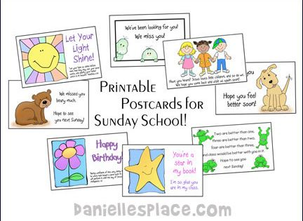 Printable Postcards for Sunday