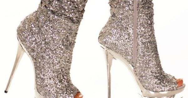 Sparkle bootie platform pumps! Hot!
