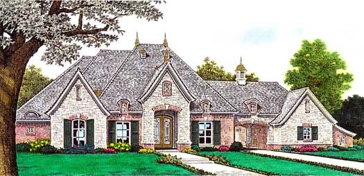 European Style House Plans 2957 Square Foot Home 1 Story 3