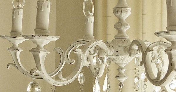 Painted Chandeliers Before And After Shabby Chic