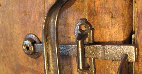 Antique Barn Door Handle Thumb Latch Set In Antiques