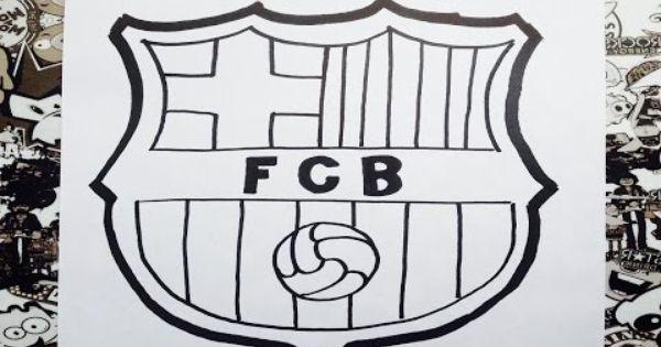 Como Dibujar El Escudo Del Barcelona How To Draw Barcelona Logo Escudo Del Barcelona Como Dibujar Escudo