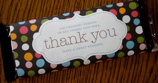 : Volunteer Appreciation Gifts: candy bar wrapper 5.25x5inch.