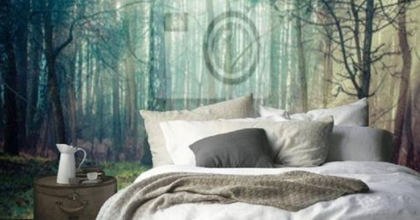 fototapete wald im schlafzimmer wohnen pinterest. Black Bedroom Furniture Sets. Home Design Ideas