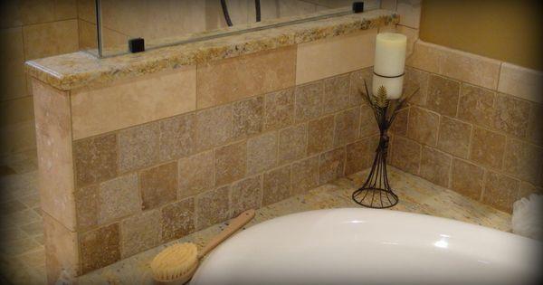 Granite Tub Deck With Drop In Soaking Tub Granite Cap On