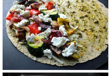 Grilled Vegetable Quesadillas with Goat Cheese and Pesto ...