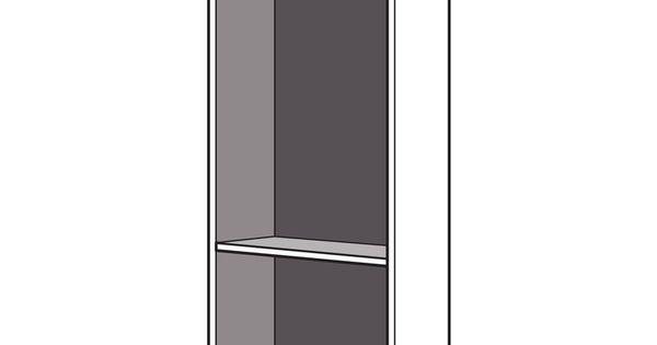 Dressing espace caissons droit h 204 x p 50 cm for Bureau largeur 50 cm