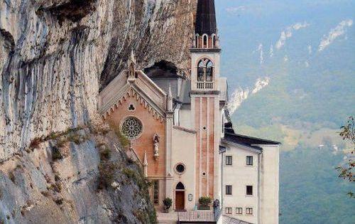 Cliffside Church Spiazzi Verona Italy Churches