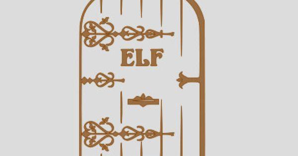 Elf On The Shelf Door Vinyl Decal Sticker 5 X 7 By