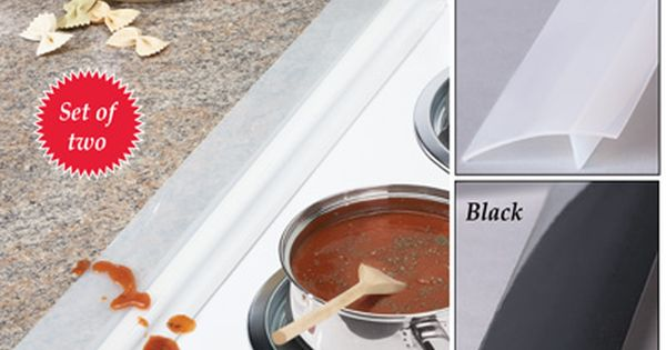 Silicone Stove And Countertop Gap Strips Set Of 2 Countertops