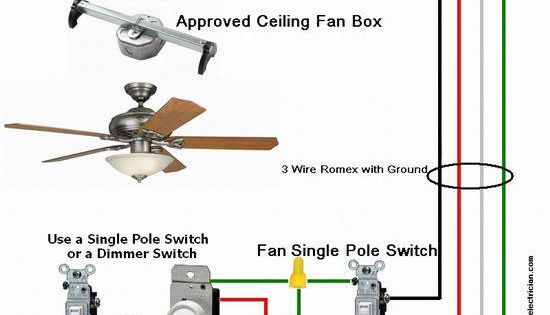 ceiling-fan-wiring-diagram#2 | for the home | pinterest ... alaska ceiling fan wire diagram ceiling fan wiring diagram red wire