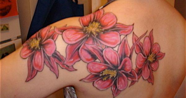 columbine flower tattoo covered in tattoo pinterest couleurs fleur ancolie et fleur. Black Bedroom Furniture Sets. Home Design Ideas