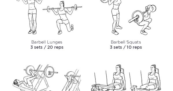 bum routine  u2013 illustrated exercise plan created at