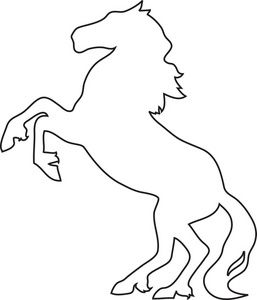 Stallion Clipart Image Drawing Of A Horse A Wild Stallion Horse Stencil Horse Outline Drawings