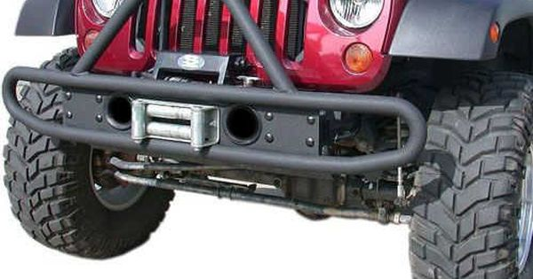 Olympic 4x4 Products Single Hoop Front Bumper For 07 17 Jeep