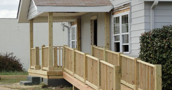 Handicap Ramp And Porch Done Along With Paint And New