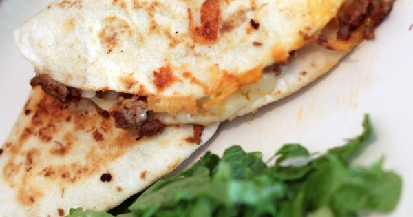Little Bitty Kitchen: Cheeseburger Quesadillas dinner recipe beef. Easy and sounds delicious!