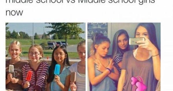 Image Result For Kids Now Vs Kids Back Then Middle School Funny Middle School Memes Middle School Girls