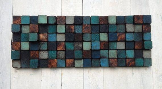 Wood Wall Art - Reclaimed Wood Wall Sculpture Wände aus