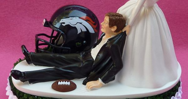 wedding cake toppers denver co wedding cake topper denver broncos football themed sports 26450