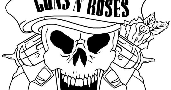 skull adult fantasy vampire guns n 39 roses coloring pages