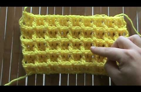 waffle stitch, there are actually four video tutorials, but I like this