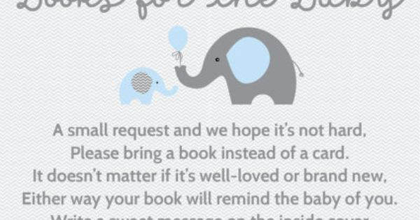 baby shower invitation bring a book instead of a card baby showers