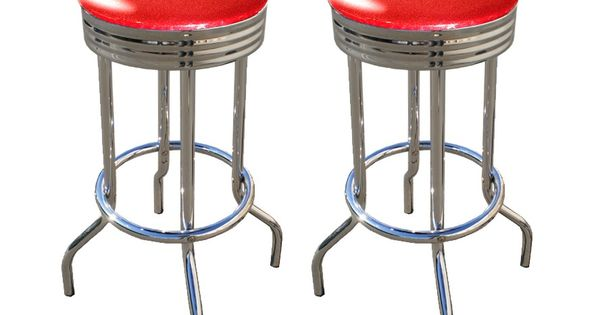 Vintage Retro Style Glitter Red Bar Stools The Red It