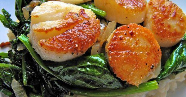 Pan seared scallops, Seared scallops and Scallops on Pinterest