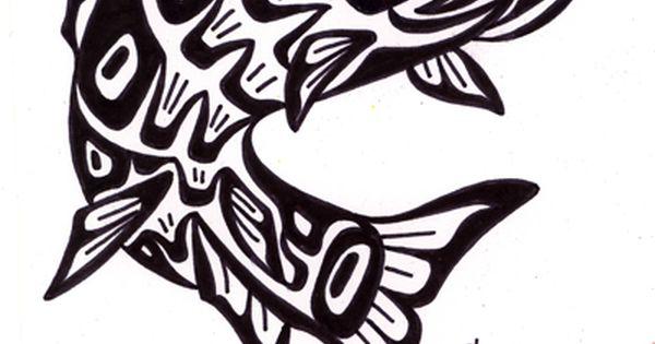 tribal salmon art. Black Bedroom Furniture Sets. Home Design Ideas