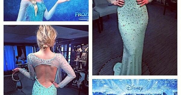 Love the frozen dress! frozendress frozenelsagown eveningdress dress promdress