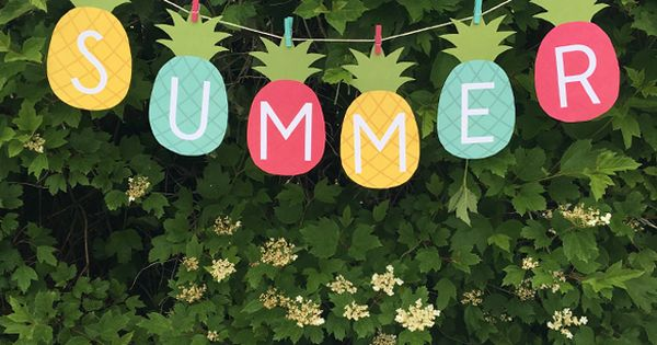 Pineapple Summer Banner Free Printable Ultimate Free