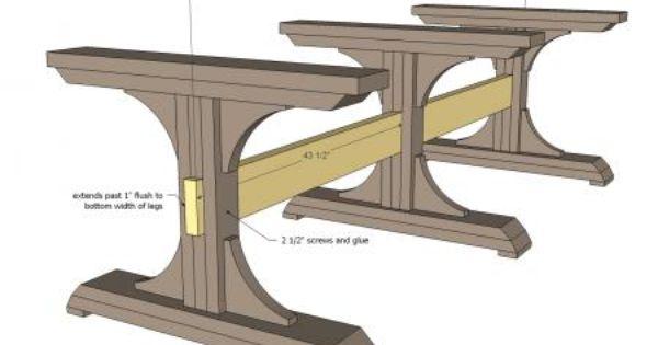 Triple Pedestal Farmhouse Table Woodworking Furniture Plans Diy Dining Table Diy Farmhouse Table