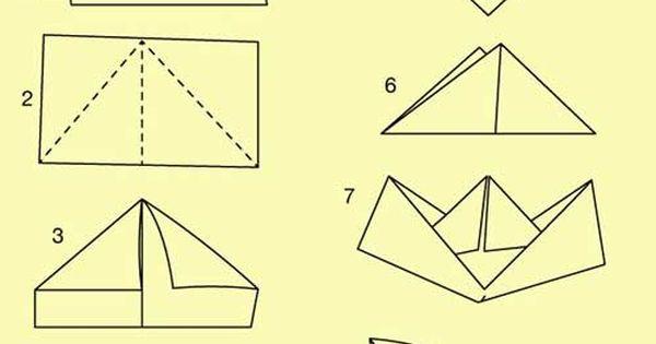 papierschiffchen falten pinteres. Black Bedroom Furniture Sets. Home Design Ideas