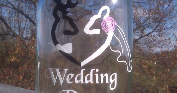 Browning Deer Wedding Day Fund 32 ounce Jar by VinylDecalsandGlass, $10.00