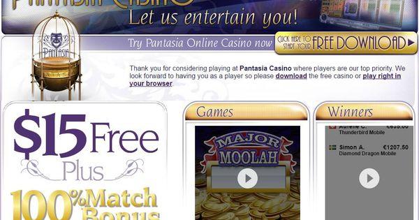 Pantasia online casino internet casino bonuses