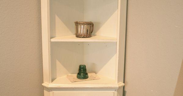 Off White Dining Hutch Corner Bookcase French Farmhouse