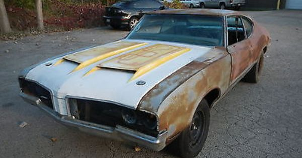 1970 Oldsmobile 442 Holiday Coupe 4 Speed W 30 Project Cutlass