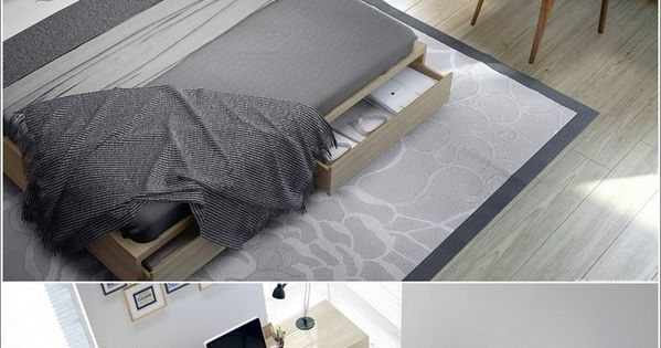 35 cool desk designs for your home dormitorio for Amoblar departamentos pequenos