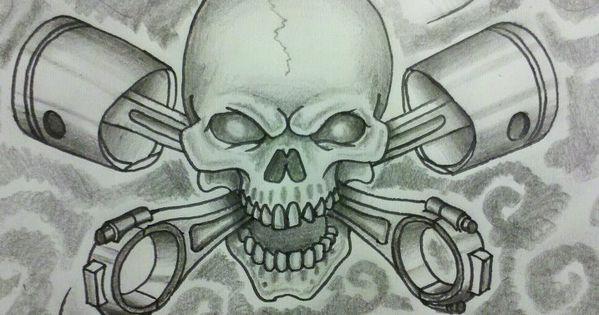 Skull And Cross Pistons By 76bev Illst Slabs