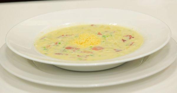 Cbc Sofra طريقة تحضير شوربة بطاطس نادية سرحان Recipe Recipes Chowder Food