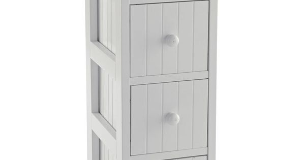 tongue and groove bathroom storage unit white buy tongue and groove 4 drawer storage unit white at 26283