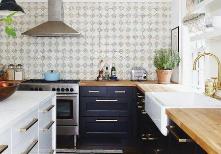 Blue And White Cabinets White Kitchen Island Upper