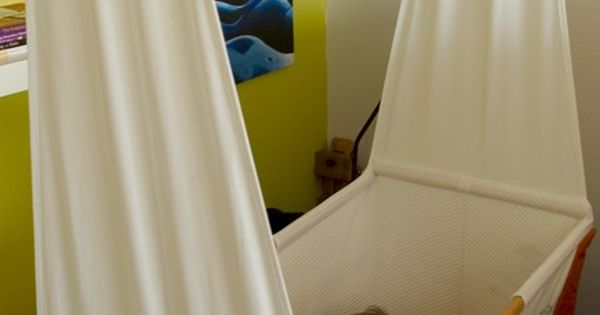 DIY Fabric Hanging Cradle Sewing Pattern to make a cute hanging crib