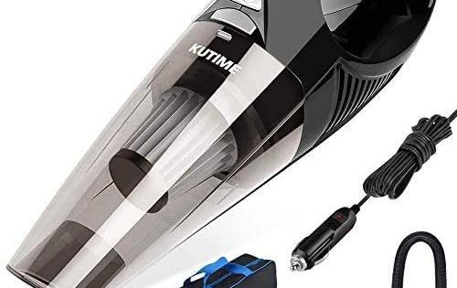 Kutime Car Vacuum 5000pa Strong Suction Dc 12v Wet Dry Handheld Vacuum Portable Pet Hair Cleaner With 16 4 Feet Pow Handheld Vacuum Portable Vacuum Car Vacuum