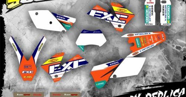 Ktm Graphics Decals Kit Exc 125 250 300 450 525 05 07 Sticker 2005 2006 2007 Motorcycle Stickers Ktm Stickers