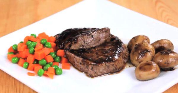 طريقة عمل وصفة الستيك مع الفطر والباربيكيو Food Steak Xbox Games