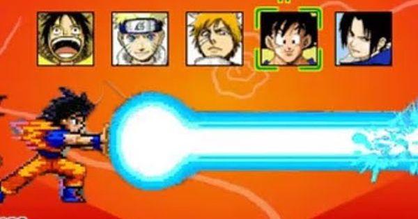 Best animation fighting game ever! Anime Fighters Cr Sasuke Goku Vs Naruto Ichigo Luffy Sasuke Goku Vs Naruto Anime