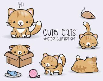 Premium Vector Clipart Kawaii Christmas Cute Chrismas Clipart Set High Quality Vectors Instant Download Kawaii Clipart Cat Clipart Kawaii Cat Clip Art